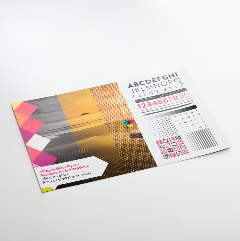 300gsm Gloss Flyer - Available from 40x40mm