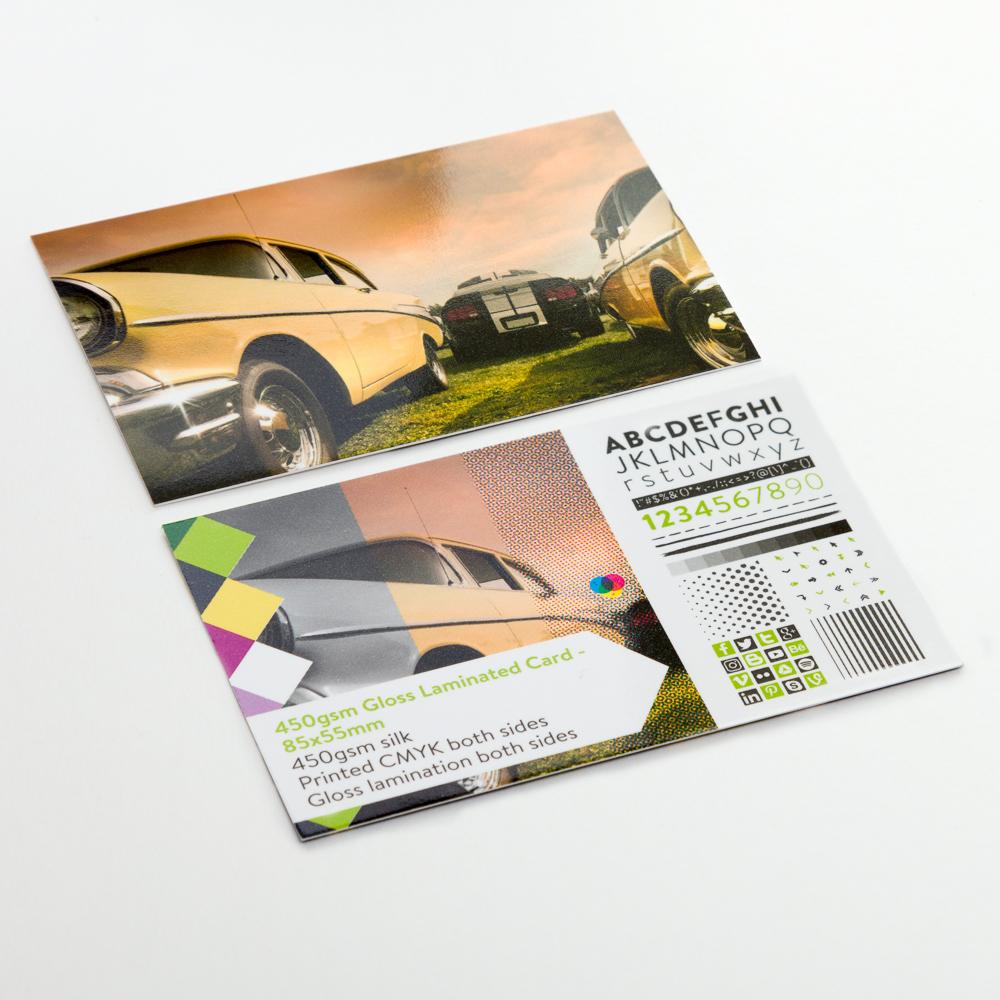 450gsm Gloss Laminated Card - 85x55mm