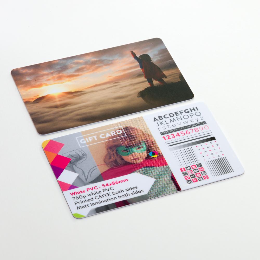White PVC Cards - 54x86mm