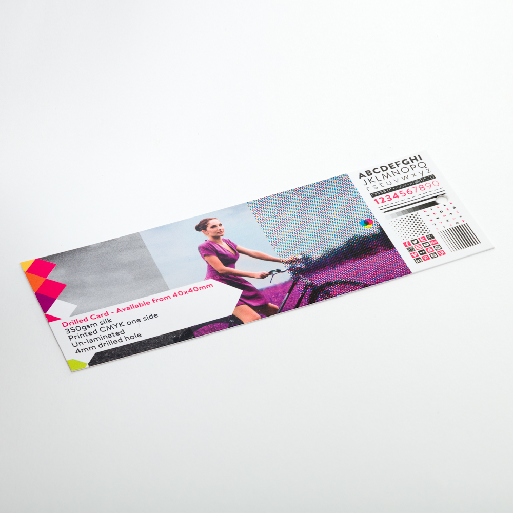 Drilled Card/Clothing Tags - Available from 40x40mm