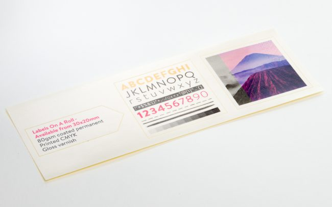 Labels On A Roll - Available from 30x20mm