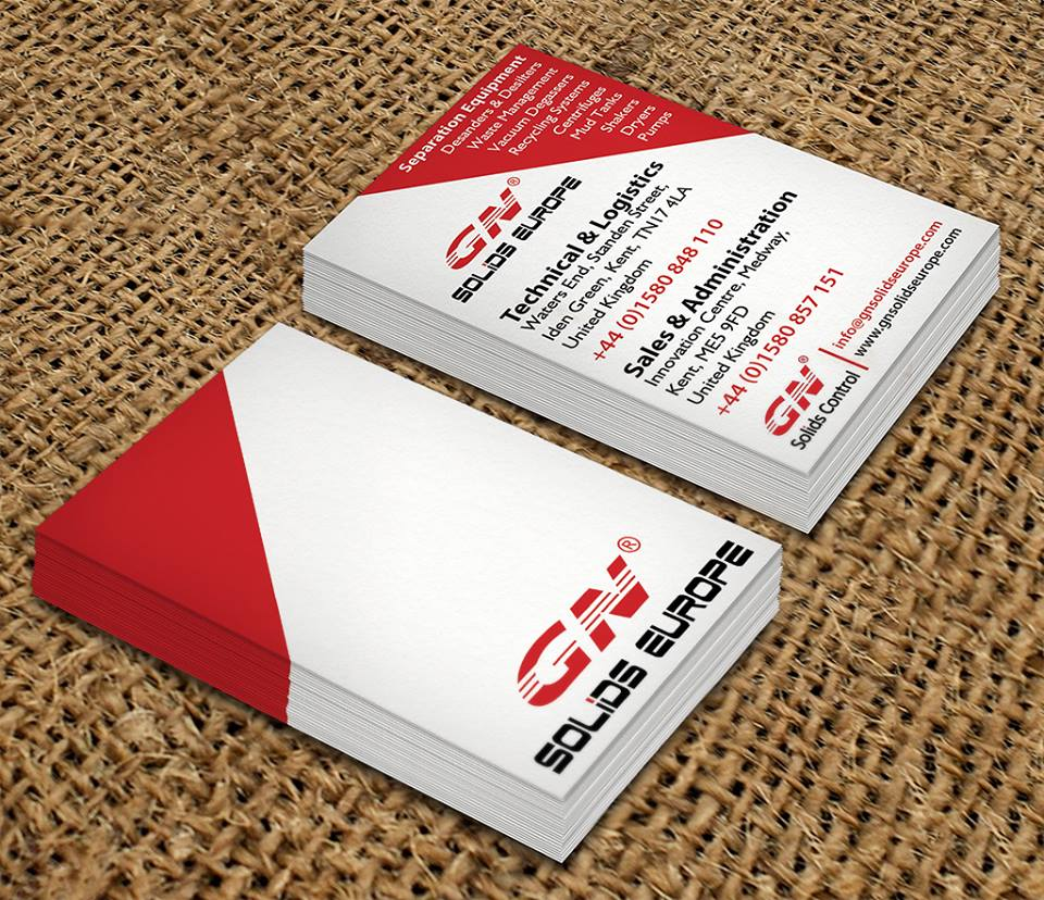 Business card design in maidstone for gn solids europe was then sent to print on a nice thick 450gsm card printed lithographically on both sides with 4 colours and finished off with a smooth matt laminate reheart Images