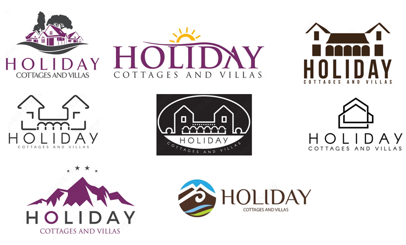 Holiday Cottages and Villas Logo Design Maidstone